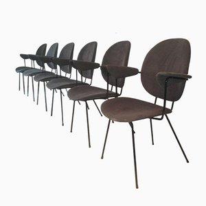 Niederländische 202 Kembo Bürostühle von Gispen, 1950er, 6er Set