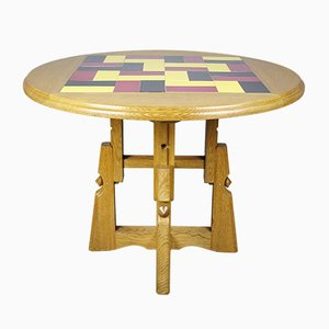 French Adjustable Table from Guillerme & Chambron, 1950s