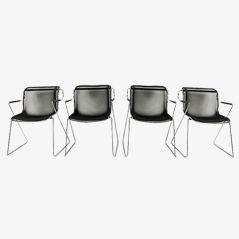 Vintage Penelope Stühle von Charles Pollock für Castelli, 1980er, 4er Set