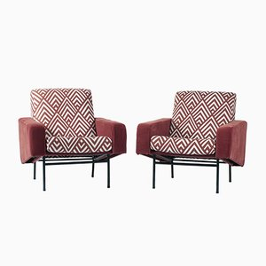 Armchairs by Pierre Guariche for Airborne, Set of 2
