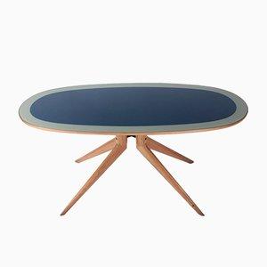 Italian Wood & Glass Dining Table, 1950s