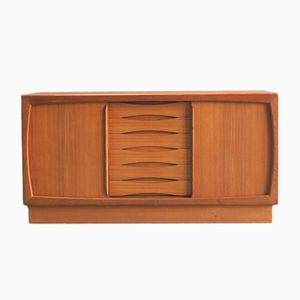 Danish Teak Sideboard with Six Drawers from Dyrlund, 1960s