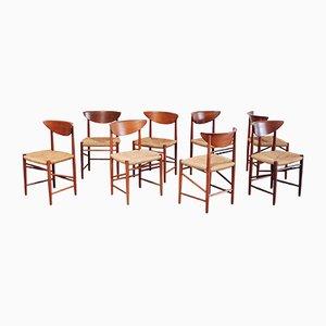 Mid-Century Model 316 Chairs by Peter Hvidt & Orla Mølgaard Nielsen for Søborg Møbelfabrik, Set of 8