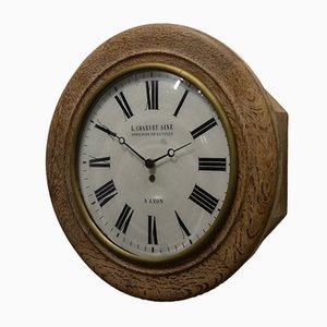 Horloge Murale Vintage en Bois de Charvet Ainé