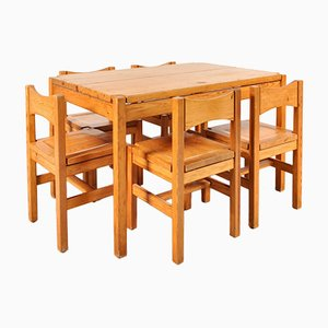 Oak Dining Room Set by Ilmari Tapiovaara for Laukaan Puu, 1970s