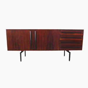 Italian Rosewood Sideboard with Ebonized Handles, 1950s