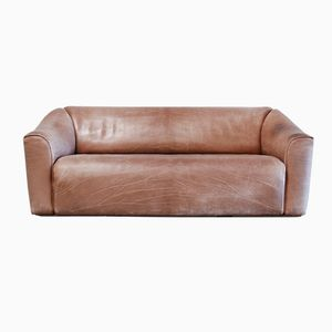 Vintage DS-47 Three-Seater Neck Leather Sofa from De Sede
