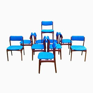 OD49 Dining Chairs by Erik Buch from Poul Dinesen, 1970s, Set of 10