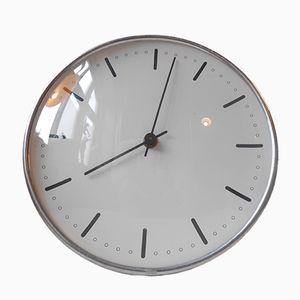 Horloge Murale City Hall vintage par Arne Jacobsen pour Gefa, Danemark, 1960s