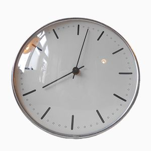 Vintage Danish City Hall Wall Clock by Arne Jacobsen for Gefa, 1960s