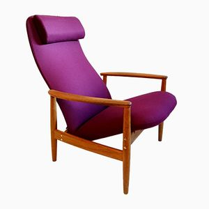 Mid-Century Swedish Countour Armchair by Alf Svensson for Bra Bohag, 1960s