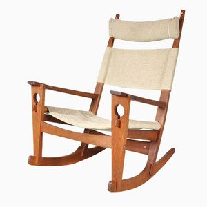 Danish Keyhole Rocking Chair by Hans J. Wegner for Getama, 1960s