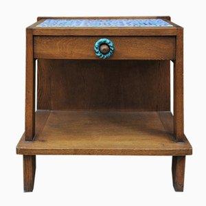 Table de Chevet en Chêne et en Céramique par Guillerme & Chambron