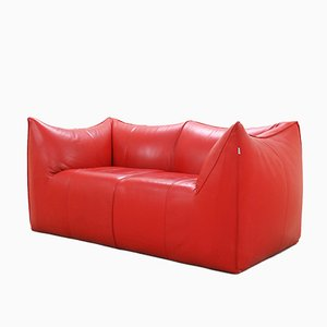 Italian Le Bambole Leather Sofa by Mario Bellini for B&B Italia, 1970s