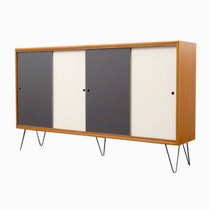 german grey blue formica sideboard with sliding doors. Black Bedroom Furniture Sets. Home Design Ideas