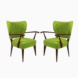 spanische vintage sessel 1940er 2er set bei pamono kaufen. Black Bedroom Furniture Sets. Home Design Ideas