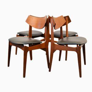 Danish Teak Dining Chairs from Funder-Schmidt & Madsen, 1960s, Set of 4