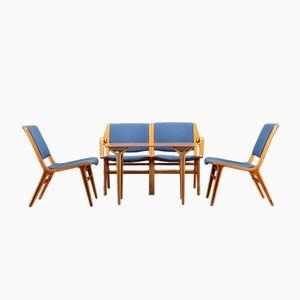 Set Chaises et Tables AX par Peter Hvidt & Orla Mølgaard-Nielsen pour Fritz Hansen