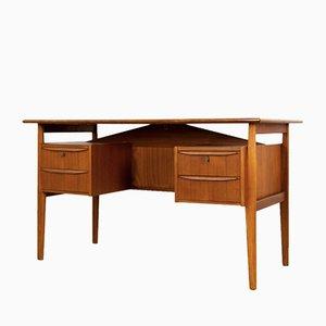 Dänischer Mid-Century Teak Schreibtisch mit Schubladen von Gunnar Nielsen Tibergaard