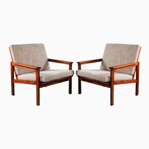 No. 4 Rosewood Armchairs by Illum Wikkelsø for Niels Eilersen, 1960, Set of 2