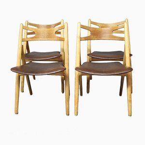 Model CH24 Sawbuck Chairs by Hans J. Wegner for Carl Hansen, 1960s, Set of 4