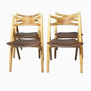 Modell CH24 Sawbuck Stühle von Hans J. Wegner für Carl Hansen, 1960er, 4er Set