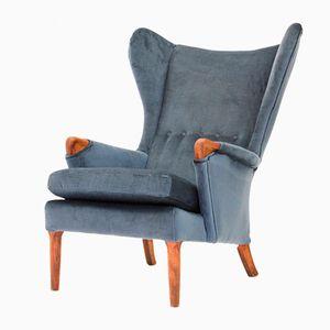 Vintage Velvet Wingback Chair from Parker Knoll, 1960s