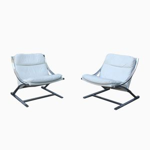 Zeta Chairs by Paul Tuttle for Strässle, Set of 2