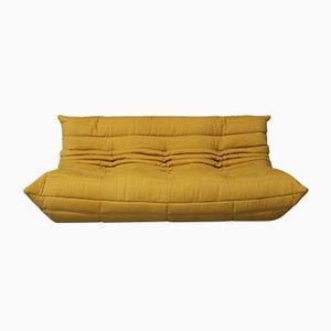 Vintage TOGO 3-Sitzer Sofa in Gelb von Michel Ducaroy für Ligne Roset