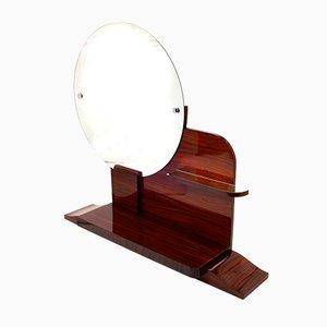 Miroir Rond Art Déco avec Etagères