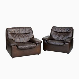 DS 66 Leather Armchairs from De Sede, 1970s, Set of 2