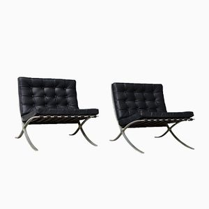 Vintage Barcelona Chairs by Ludwig Mies van der Rohe for Knoll, Set of 2
