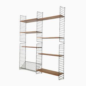 Swedish Teak Wall Shelf by Nisse Strinning for String, 1960s