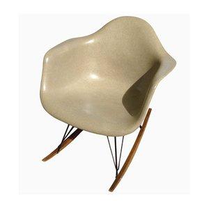 Sedia a dondolo RAR beige di Charles & Ray Eames for Herman Miller, 1970