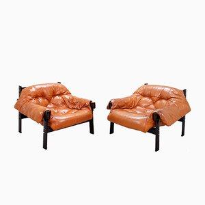 Sessel aus Brasilianischem Leder von Percival Lafer