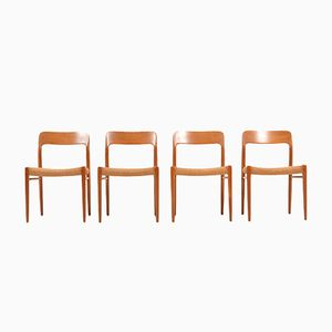 Model No.75 Dining Chairs by Niels O. Møller for J.L. Møllers, Set of 4