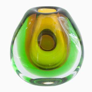 Versenkte Vintage Vase von Vladimir Mika für Moser Glassworks, 1950er