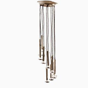 Italian Aluminium Pendant Lamp, 1970s