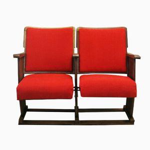 Portugiesische Rote Vintage Kinostühle