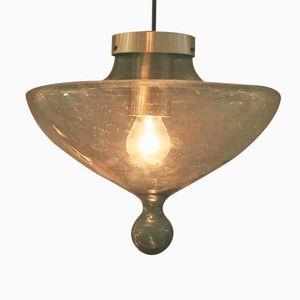Mid-Century Lampe aus Rauchglas von Raak