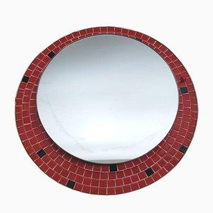 German Illuminated Mosaic Mirror, 1950s