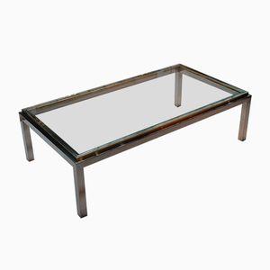 table basse vintage avec armoire de bar par willy rizzo pour cidue en vente sur pamono. Black Bedroom Furniture Sets. Home Design Ideas