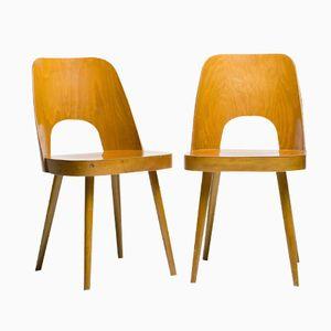 Wiener Stühle aus Buche von Oswald Haerdtl für Thonet, 1950er, 2er Set