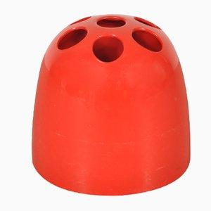Roter Schirmständer aus Plastik von Emma Gismondi Schweinberger für Artemide