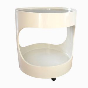 White Plastic Side Table From Opal, 1970s