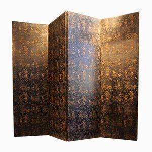 Paravento pieghevole antico in stile cinese, Regno Unito