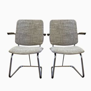 Dutch Chromed Easy Chairs, 1975, Set of 2