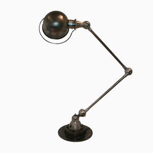 French Industrial Graphite Two-Armed Lamp by Jean-Louis Domecq for Jieldé, 1951