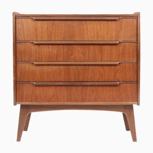Low Mid-Century Danish Teak Make-Up Dresser