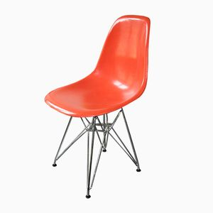 American Orange DSR Chair by Charles & Ray Eames for Herman Miller, 1960